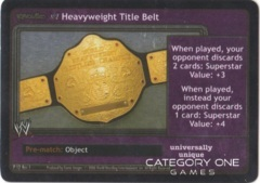 Heavyweight Title Belt